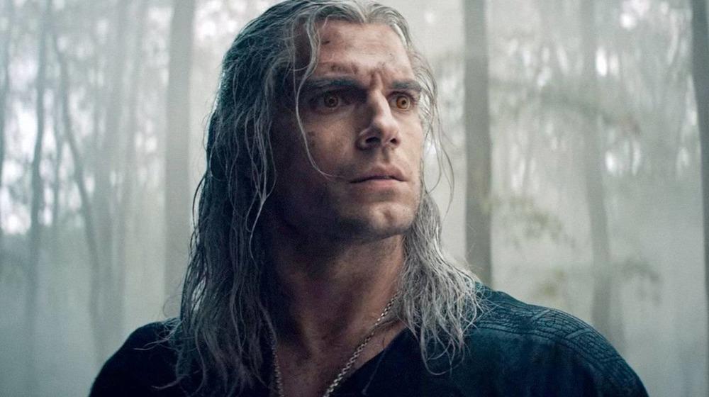 Geralt of Rivia looking ominous