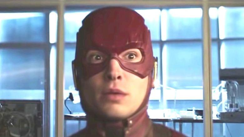 The Flash looking shocked