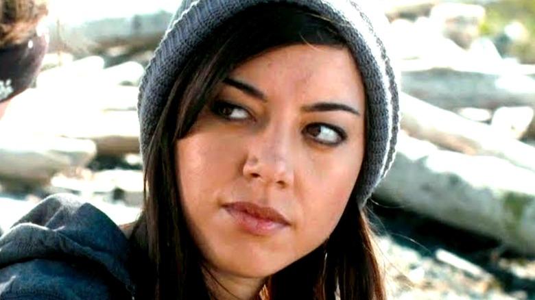 Aubrey Plaza wearing a beanie