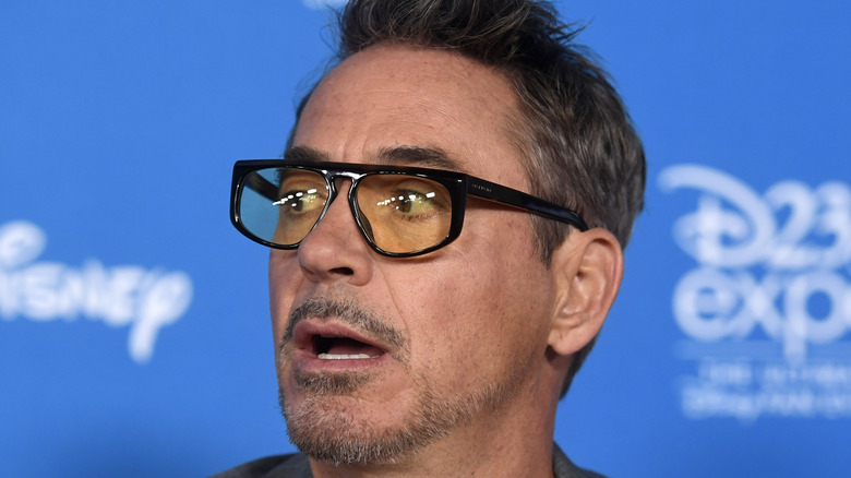 Robert Downey Jr. wearing glasses