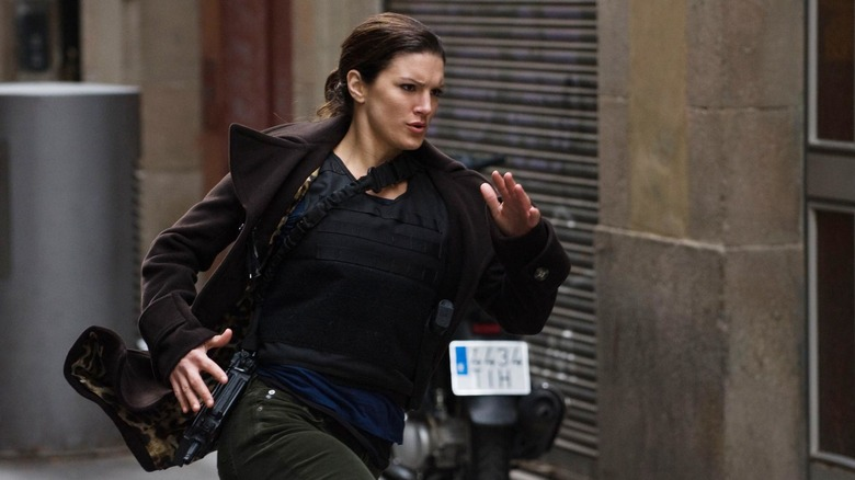 Gina Carano running the game in Haywire