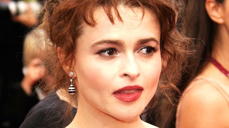 Helena Bonham Carter open mouth