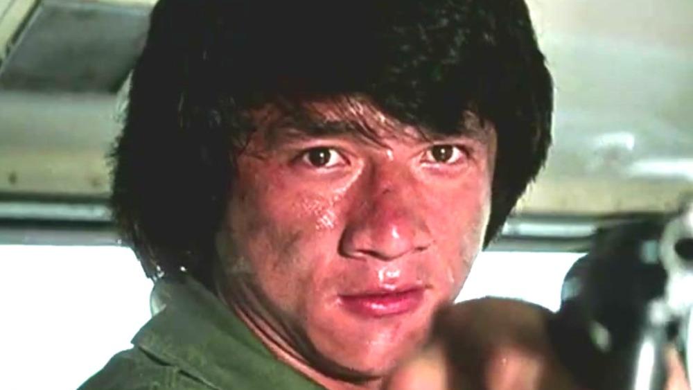Jackie Chan sweating gun