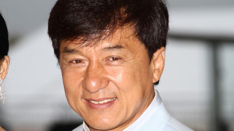 Jackie Chan smiling