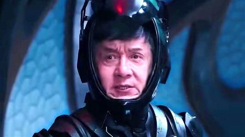 Lin Dong in helmet