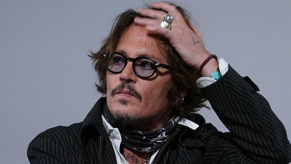 Johnny Depp wearing sunglasses