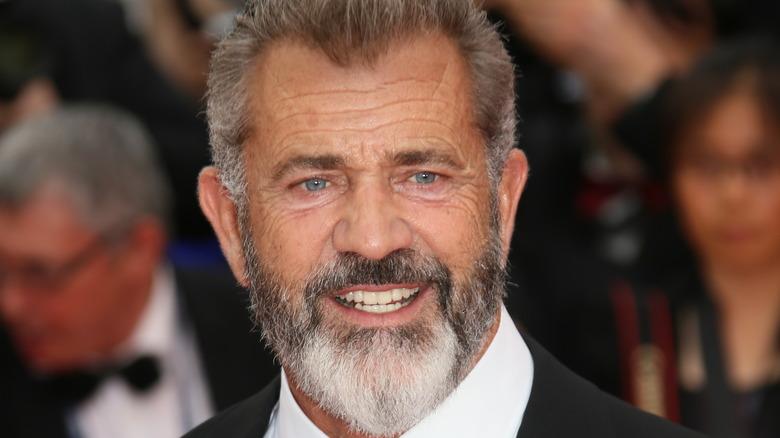 Mel Gibson posing