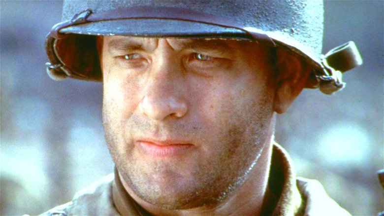 Tom Hanks in WWII fatigues
