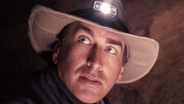Rob Riggle wearing headlamp