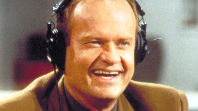 Frasier Crane in close-up with headphones