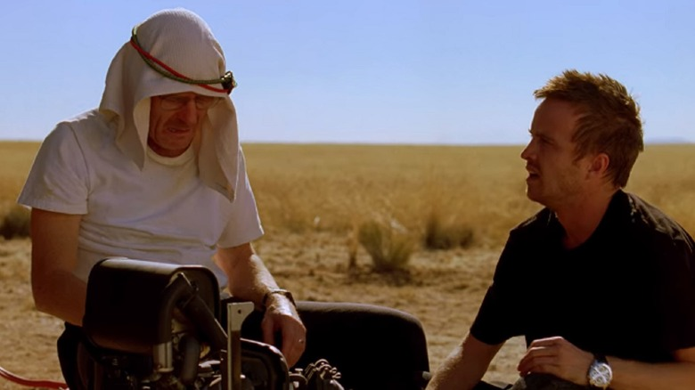 Breaking Bad Walt and Jesse stuck in the desert in 4 Days Out