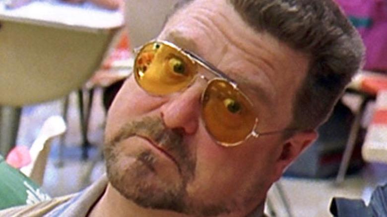 Nicholas Angel in sunglasses