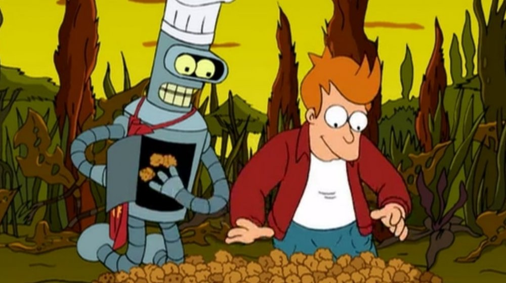"""Bender and Fry harvesting Popplers in the Futurama episode """"The Problem with Popplers"""""""