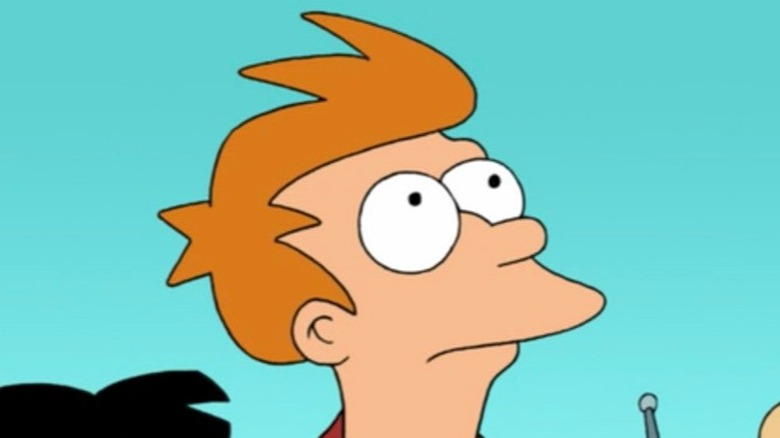 Fry looking up