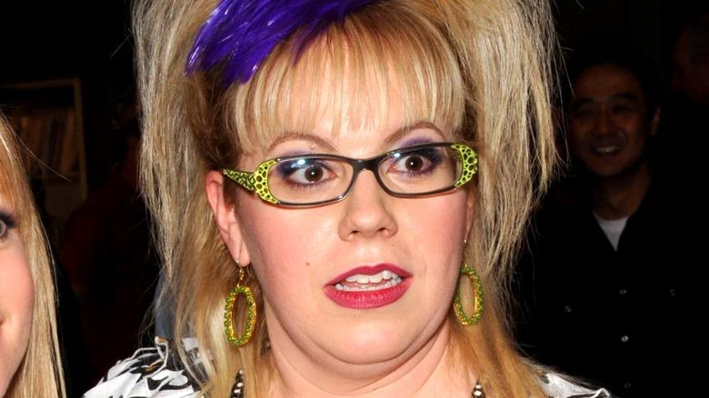 Kirsten Vangsness updo with glasses