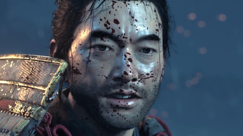 Jin Sakai bloody face