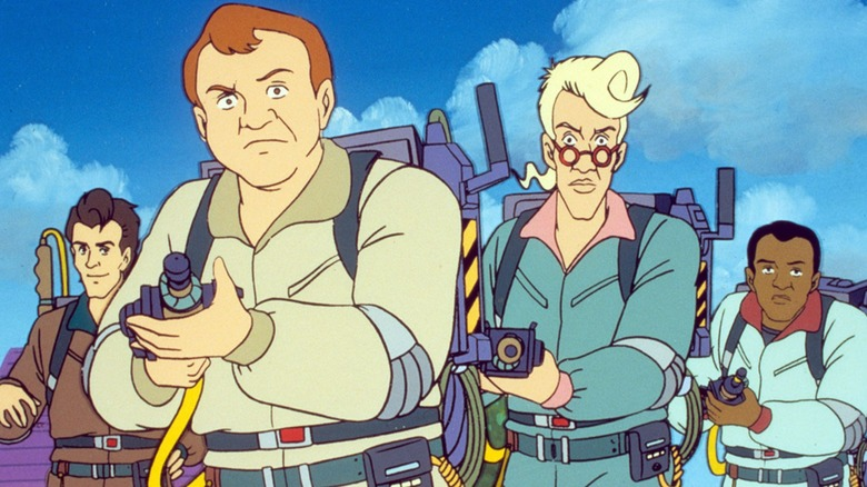 The cast of The Real Ghostbusters