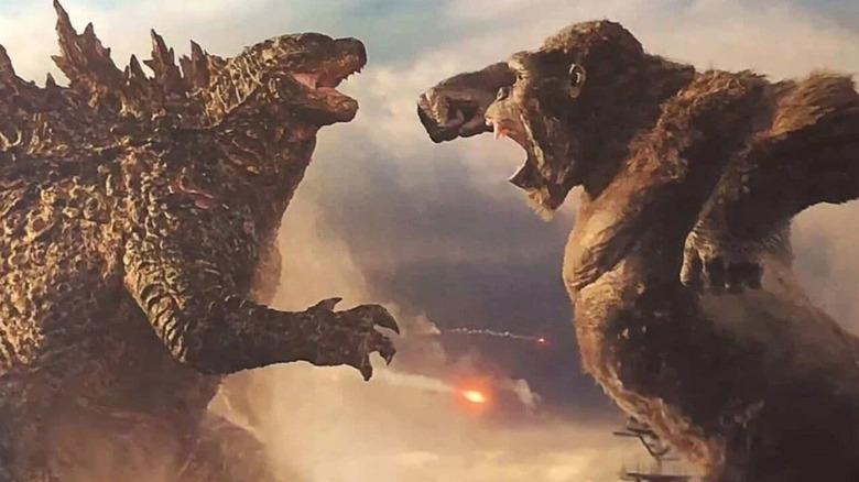 Godzilla and King Kong fight