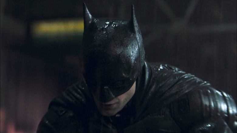 Robert Pattinson in a behind-the-scenes image from The Batman