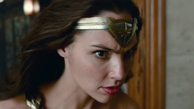 justice league wonder woman closeup