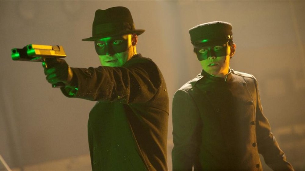 Seth Rogen and Jay Chou in The Green Hornet