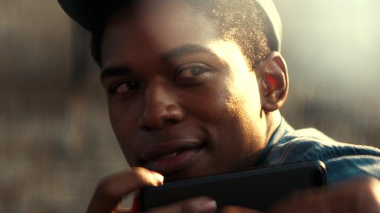 Kelvin Harrison Jr. as Steve Harmon smiling