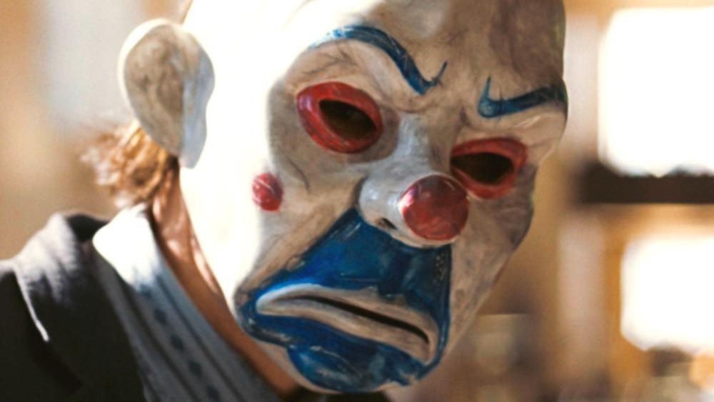 Joker in creepy clown mask