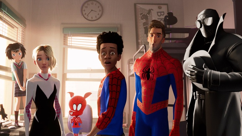 Miles Morales and Spider-People in Spider-Man: Into the Spider-Verse