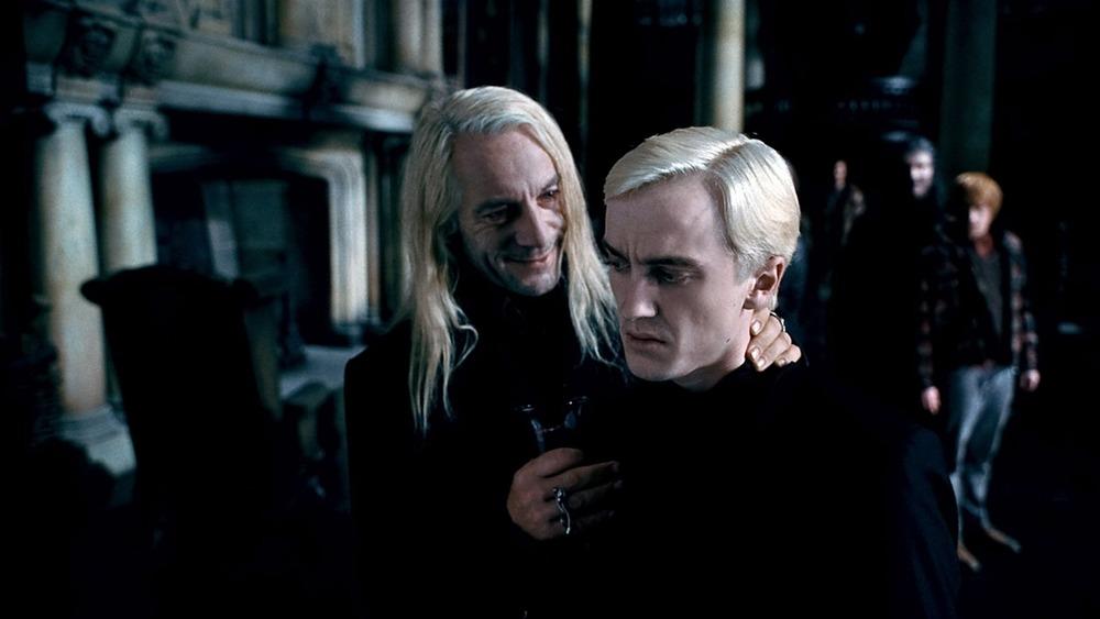 Jason Isaacs and Tom Felton in Harry Potter