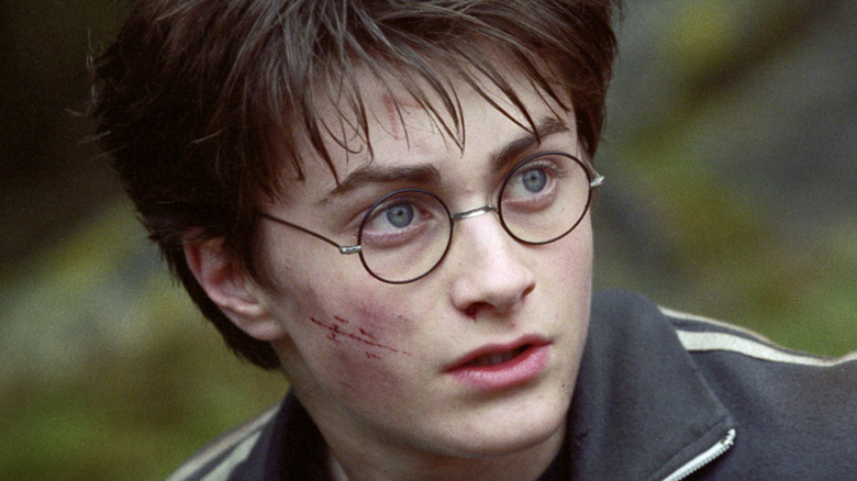 Harry Potter glasses scratched cheek