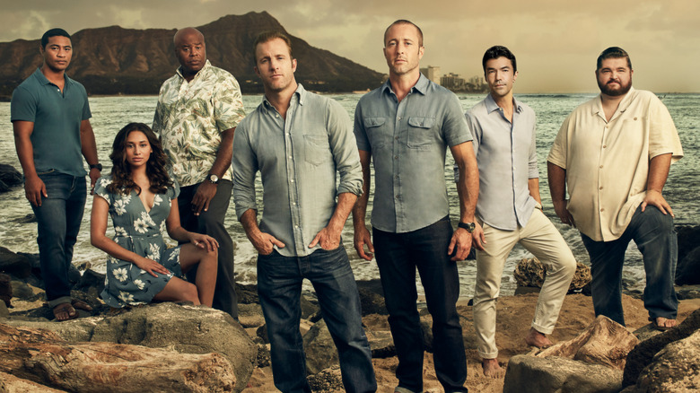 The cast of Hawaii Five-0 in a promo still
