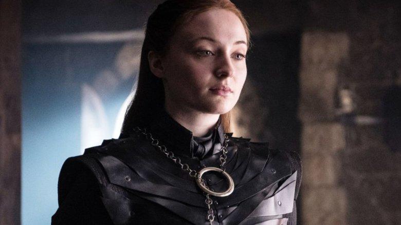 Sophie Turner as Sansa Stark on Game of Thrones