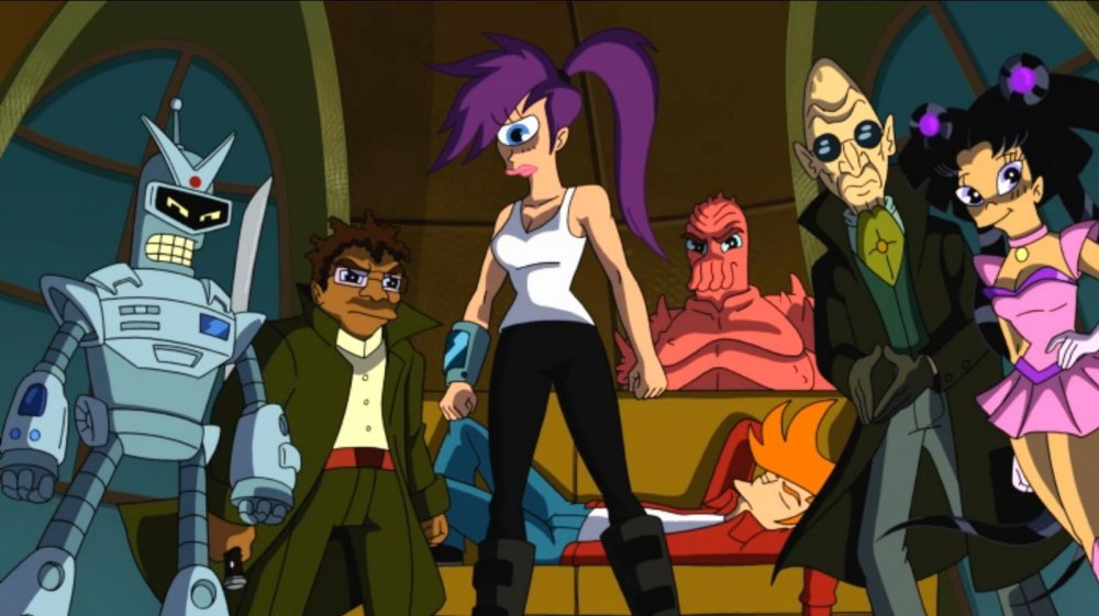 The Planet Express crew from Comedy Central's Futurama