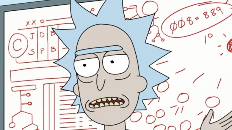 Rick Sanchez in Rick and Morty on Adult Swim