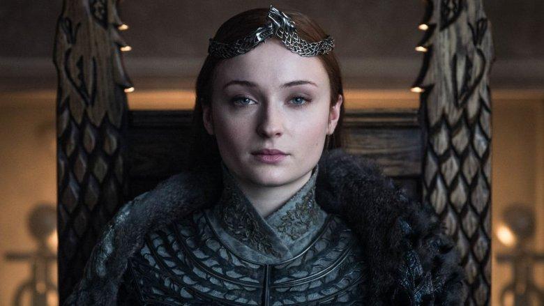 Sophie Turner as Sansa Stark on the Game of Thrones series finale