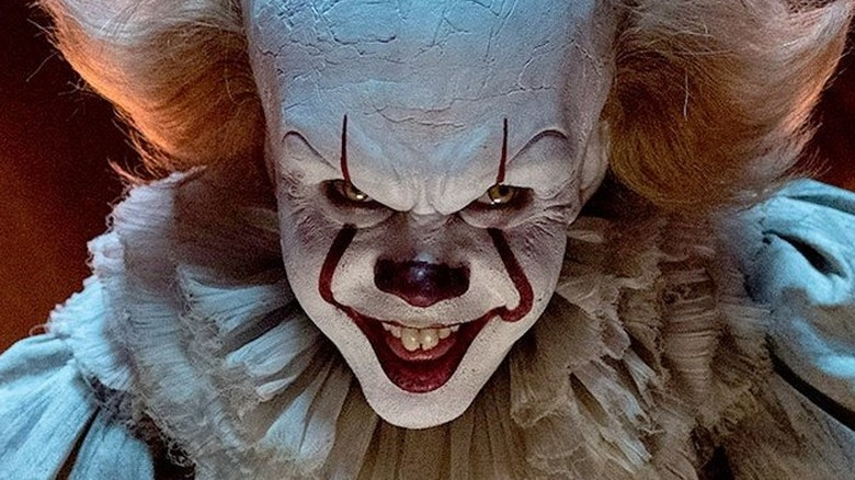 Pennywise from It grins