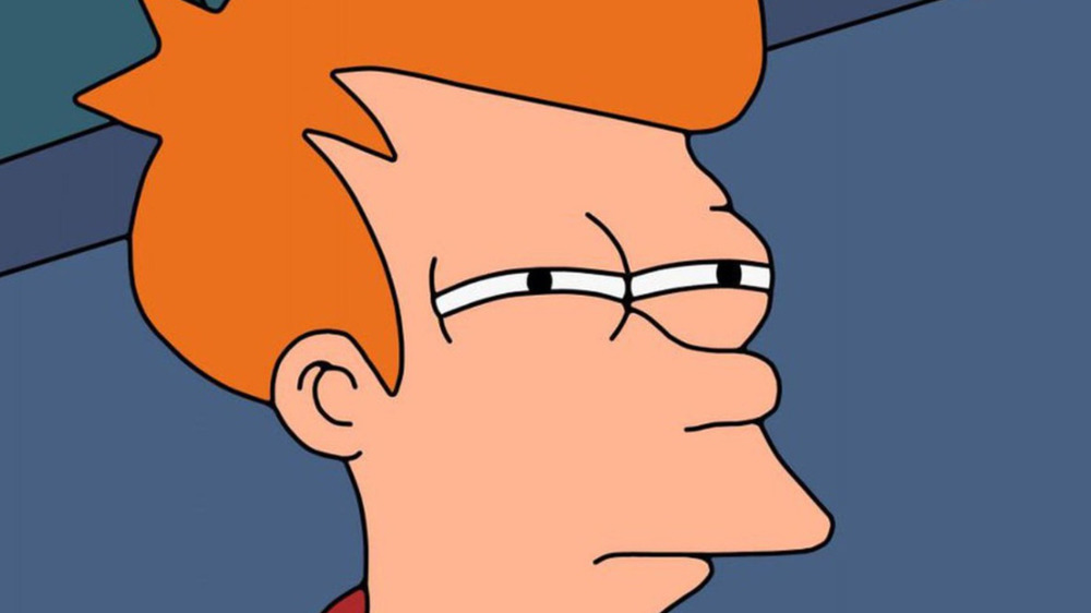 Fry Squinting Suspiciously