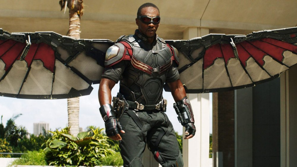 Anthony Mackie as the Falcon in Captain America: Civil War