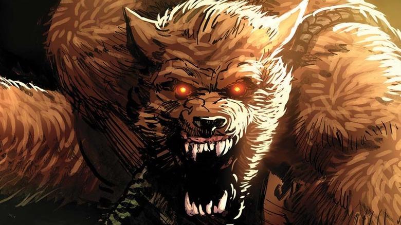 Jake Gomez's werewolf snarling
