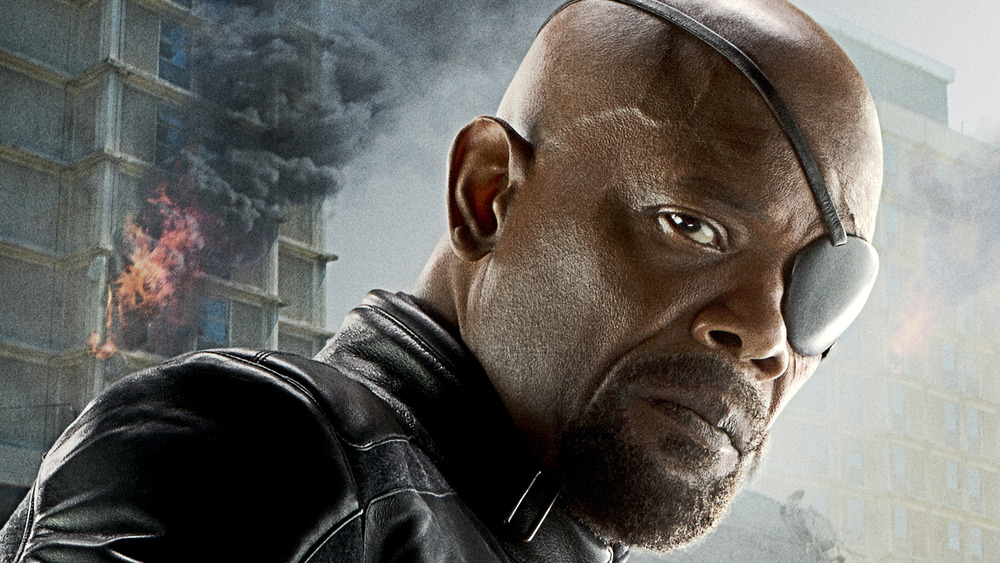 Samuel L. Jackson as Nick Fury in The Avengers: Age of Ultron