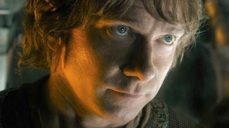 Bilbo Baggins listening