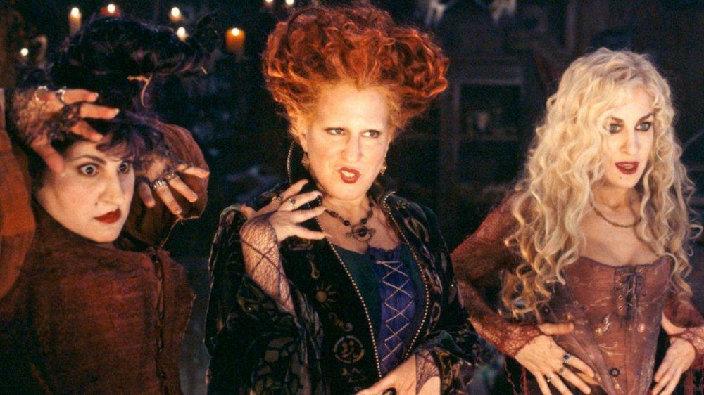 Bette Midler, Sarah Jessica Parker, and Kathy Najimy star in Disney's Hocus Pocus