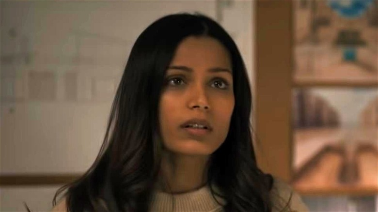 Frieda Pinto looking disappointed