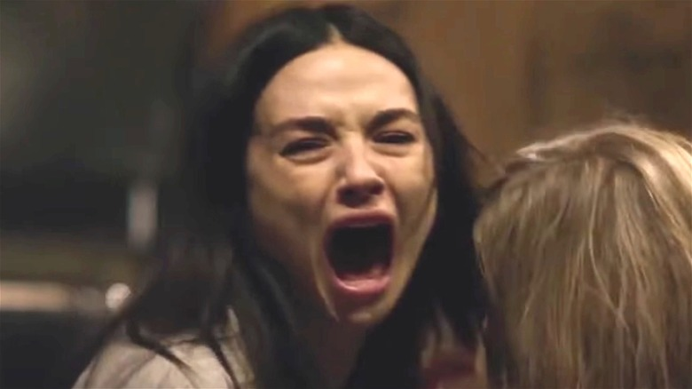 """Screaming actress in """"Ghostland"""""""