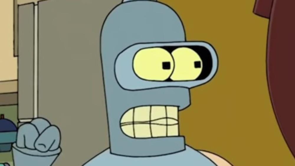 Bender fist raised