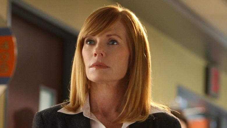 Catherine looking forward in CSI