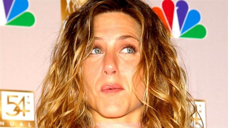 Jennifer Aniston looking up