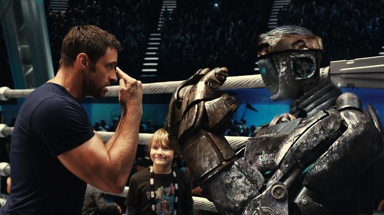 Hugh Jackman and Dakota Goyo in Real Steel