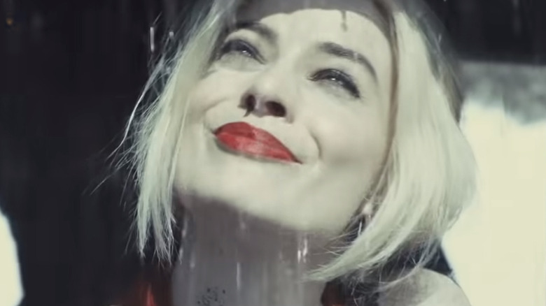 Suicide Squad Harley Quinn in the rain