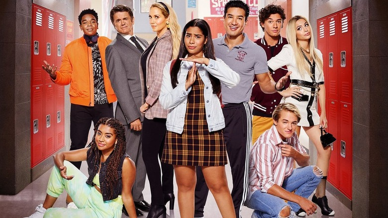 The cast of Peacock's Saved by the Bell revival